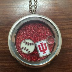 University of Indiana Hoosiers Football floating charm necklace $27.99