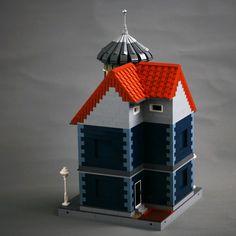 Moc Corner Tower House Tower House Corner Tower Lego House