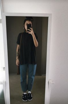 movie date outfit Grunge Outfits, Punk Rock Outfits, Indie Outfits, Cute Casual Outfits, Summer Outfits, Grunge Clothes, K Fashion, Tomboy Fashion, Grunge Fashion