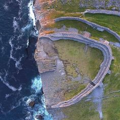 We're not sure if there's a more dramatic and spectacular spot in Galway than the incredible Dún Aonghasa 😮💛 Set above the crashing… City Photo, Ireland, Waves, The Incredibles, Awesome, Outdoor, Instagram, Outdoors, Irish