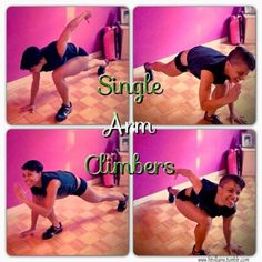 """fitvillains: """" Single Arm Climbers These are considerably harder than regular mountain climbers, so expect to slow down a bit. Focus on form and not speed. (having a dumbbell underneath your planted. Circuit Training, Strength Training, Hiit Session, Mountain Climbers, Take Care Of Your Body, Body Is A Temple, Hand Care, Fit Board Workouts, Aerobics"""