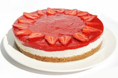 Our beautiful no-bake dairy free & gluten free strawberry cheesecake is featured on Cameron Diaz's website - The Body Book.