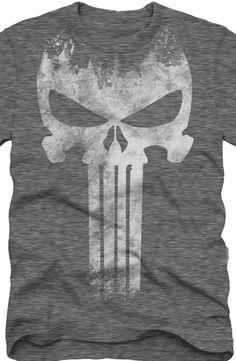 Punisher Skull Logo T-Shirt: Marvel Comics Punisher Mens T-Shirt