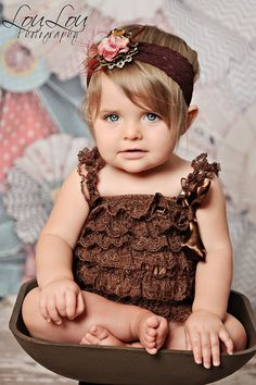 Chocolate Opulence Jeweled Headband from The Couture Baby