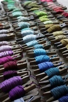 Storing embroidery thread