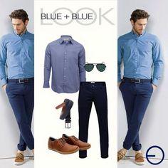 El color azul es uno de los protagonistas del guardarropa masculino. Mezclando diferentes texturas y estampados conseguirás look modernos y estilizados. #modaElSalvador #getthelook #InStyle