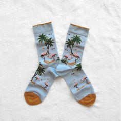 Chaussettes Bonne Maison / Bonne Maison socks - Flamants Ciel