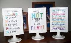 use these frames from ikea for printable quotes- I love the idea of decorating with inspirational walls.