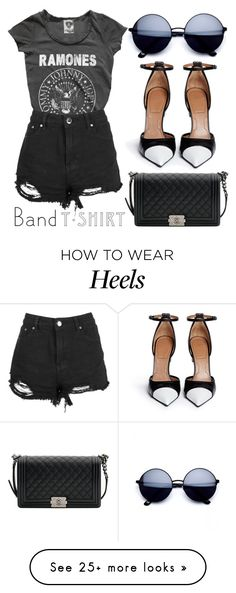 """""""Band Tee"""" by minchu on Polyvore featuring Givenchy, Chanel, bandtshirt and bandtee"""