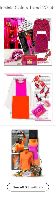 """""""Vitaminic Colors Trend 2014-15"""" by yours-styling-best-friend ❤ liked on Polyvore featuring yellow, Pink, red, orange, Dailylook, David Tutera, Sarah Jessica Parker, Kate Spade, Mary Katrantzou and Gucci"""