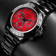 Ferrari Red Rolex Daytona Cosmograph SC by Bamford Watch Department