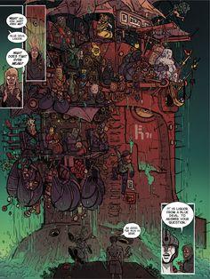 kill six billion demons Fantasy Art Landscapes, Fantasy Landscape, Knight Games, Graphic Novel Art, Stoner Art, Comic Panels, Line Illustration, Scenery Wallpaper, Environment Concept Art