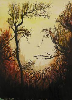 Fall face water color Watercolor, Fall, Painting, Pen And Wash, Autumn, Watercolor Painting, Fall Season, Painting Art, Watercolour