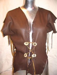 Leather Vest Renaissance Pirate Steampunk Goth by dleather on Etsy,