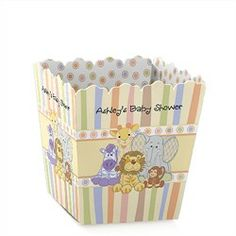 Zoo Crew - Personalized Baby Shower Candy Boxes