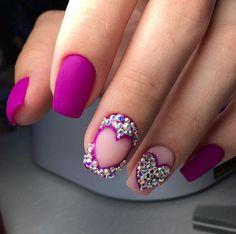 Фиолетовый и сиреневый маникюр