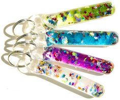 Glitter wand keychains. They are a must in the child life world! These come in such handy, I have one on my keychain and use it all the time here and there!