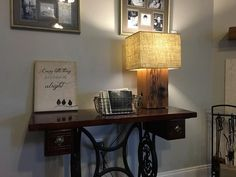 Reclaimed Cypress Beam Table Lamps