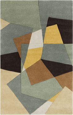 I know this is very comtemporary but it's interesting to think about for the living room.  It may well tie in all the colors and remember that much of it would be covered...COS-9127: Surya   Rugs, Pillows, Art, Accent Furniture
