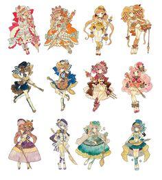 にど (@nidoduke_) | Twitter Anime Chibi, Kawaii Anime, Manga Anime, Anime Art, Pretty Art, Cute Art, Character Concept, Character Art, Cute Chibi