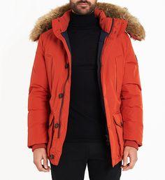 Parka Hampton Tommy Hilfiger orange pour Homme Tommy Hilfiger, Lafayette, The Hamptons, Rain Jacket, Windbreaker, Raincoat, Orange, Jackets, Shopping
