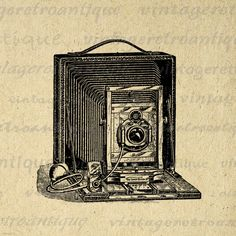 Digital Image Old Fashioned Camera Graphic Vintage Old Fashioned Camera, Camera Clip Art, Macro Photography, Digital Image, Lovers Art, Artwork, Images, Vintage, Antiques