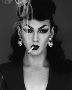 Violet Chachki, Winner of RuPaul's Drag Race season rocks S&M attitude! Photo by Styled by Drag Queen Make-up, Rupaul Drag Queen, Black Drag Queen, Drag Queens, Violet Chachki, Babe, Drag Makeup, Queen Makeup, Linda Evangelista
