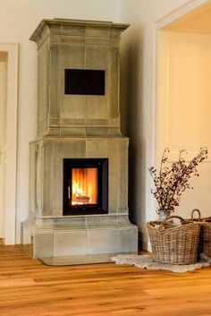 Fireplace Tile, Diy Fireplace Mantle, Fireplace Design, Living Room With Fireplace, Dream Living, Diy Wood Headboard, Brick Fireplace, Fireplace, Freestanding Fireplace
