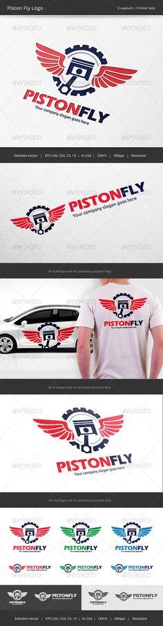 Piston Fly Race Logo