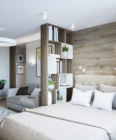 41 Outstanding Small Apartments Design Ideas With Futuristic Style - You may be wondering exactly what to do to make your apartment or home. There are certain elements of design that need to be present to achieve the mo. Apartment Room, Apartment Layout, Bedroom Design, Studio Apartment Decorating, Apartment Design, Condo Interior, Small Apartment Design, Apartment Decor, Apartment Interior