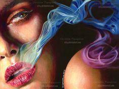 Exhale by XRlS.deviantart.com on @deviantART - Coloured pencil