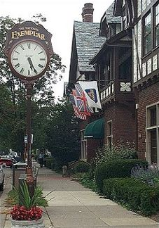 Mariemont, Ohio. Outside of the Mariemont Inn where my wedding reception was held in 1988