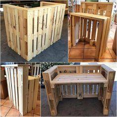 20 Brilliant DIY Pallet Furniture Design Ideas to Inspire You - diy pallet creations Cheap Basement Remodel, Basement Remodeling, Remodeling Ideas, Bedroom Remodeling, Pallet Furniture Designs, Wood Pallet Furniture, Pallet Beds, Furniture Projects, Diy Furniture