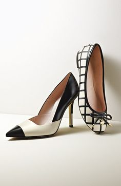 Two tone flats and pumps for winter / kate spade new york