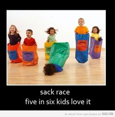 Ya that one kid was me! I hated sack race because I was always too tall and had to bend over to hang on to the damn thing.