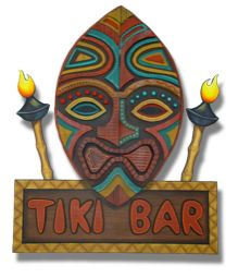 wood painted tiki mask sign from madasigns..com