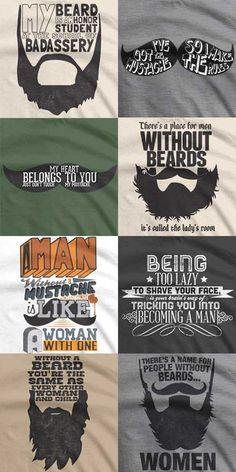 Beard & Mustache T-shirts