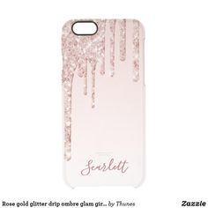 Shop Rose gold glitter drip ombre glam girly name uncommon iPhone case created by Thunes. Rose Gold Ombre, Rose Gold Glitter, Glitter Phone Cases, Glitter Paint, Apple Iphone 6, Iphone Cases, Tablet Cases, Pink And Green, Hand Lettering