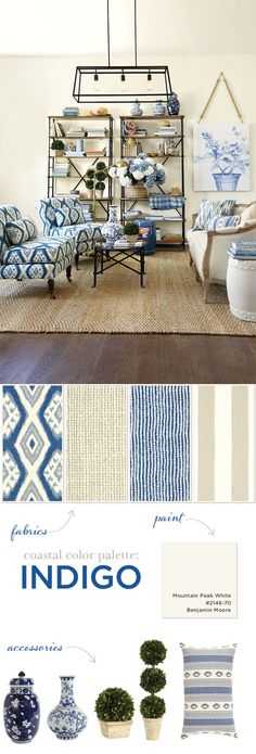 Indigo blue color palette inspiration