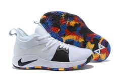 online retailer e36f5 dbb6f Nike PG 2 NCAA March Madness White Black-Multi-Color For Sale, Nike and Paul  George is releasing yet another pair of his signature shoes, this time for  ...
