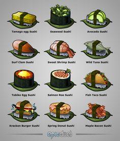 Game Evolving Sushi Achievements by charfade.deviantart.com on @DeviantArt