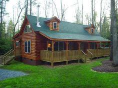 Blue Ridge Log Cabins - Lake Lure V - 939 sf - 1 floor (2 level?) - 2 bedrooms - 1 bath - larger kitchen