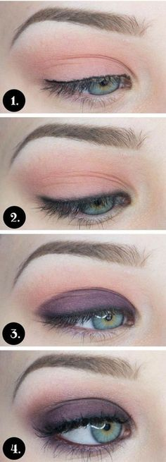 Eyeshadow Tutorials for Blue Eyes #colorfuleyeshadows