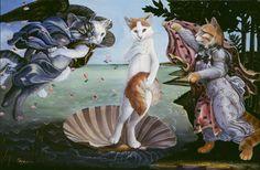 "Melinda Copper ~ ""Birth of Venus"" ~ (original painting, Birth of Venus by Botticelli)"
