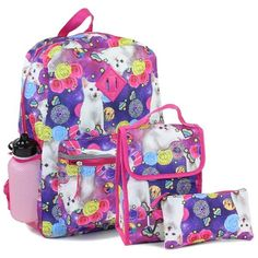 9c23e8297b Confetti Adorable Kitty Girls Back Pack W Lunch Kit   Pencil Case Combined.  Star Wars BackpackEmoji ...
