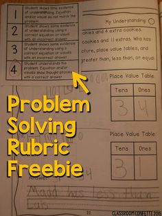 First Grade Math Journal through the Year! FREE problem solving rubric perfect for primary grades. Can be used for any word problem!
