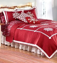 Christmas bedding would be a great present for an overachiever holiday decorator!