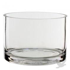 "5\"" D x 3\"" H Clear Cylinder Glass Vase"