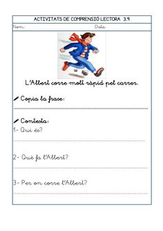 Dori dos 1112_mt005_r1_comprensio_lectora_3 Worksheets, Teaching, School, Texts, Reading Comprehension, Speech Language Therapy, Initials, Vocabulary, Learning
