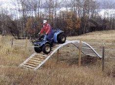 George Rothweiler uses an ATV to check his buffalo herd, but grew tired of always having to stop to open and close the gate. Cattle Corrals, Campolina, Farm Hacks, Farm Show, Welding Projects, Farm Projects, Future Farms, Atv Accessories, Cattle Farming
